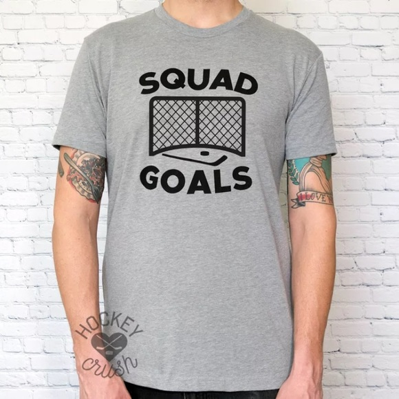 98c7612c Next Level Apparel Shirts | Squad Goals Funny Hockey Shirt | Poshmark